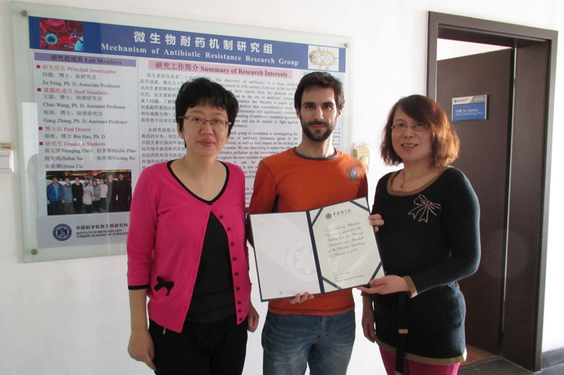 From France to China: Finding a life in CAS research----Newsletter